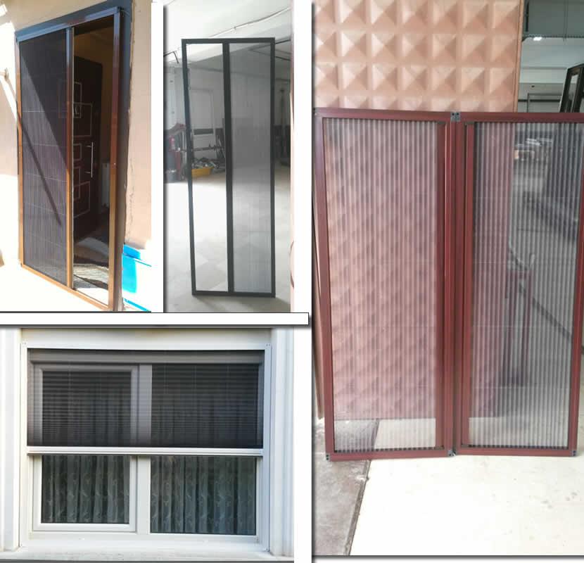 Sürgülü, Akordiyon, Cam, Pimapen, Mıknatıslı Kapı ve Pencere Plisseri Sineklik Modelleri ve Fiyatları
